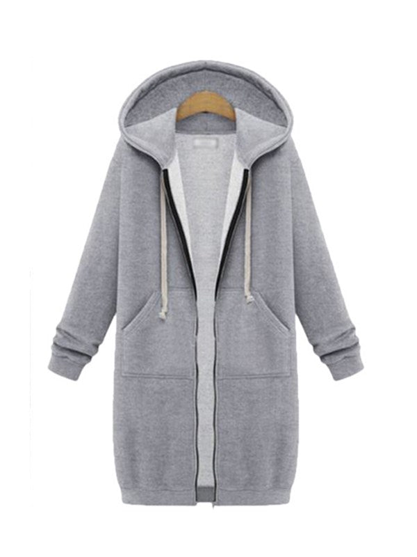Winter Again Full Zipper Hooded Sweatshirt