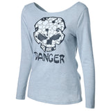 Skull Print Round Neck Shirt - FIREVOGUE