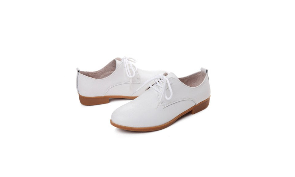 Women's Lace-up Wingtip Vintage Flat Shoes