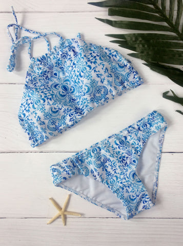 Sweet Summer Vintage Pattern Bikini Sets - FIREVOGUE