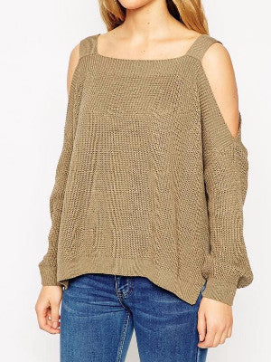 (Clearance)Shrug It Off Off-the-Shoulder Sweater - FIREVOGUE