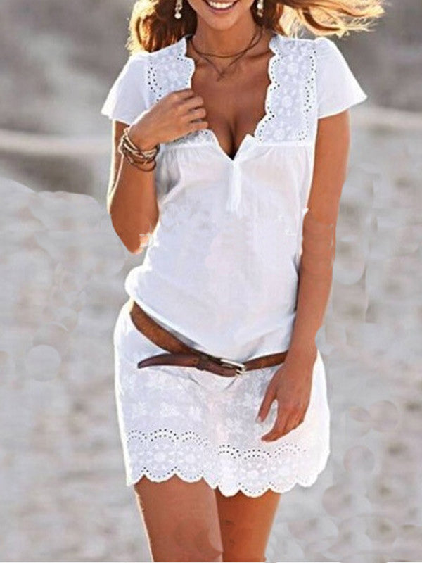Little Lies Lace Plunging Dress