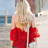 Playing With Fire Crochet Lace Top - FIREVOGUE