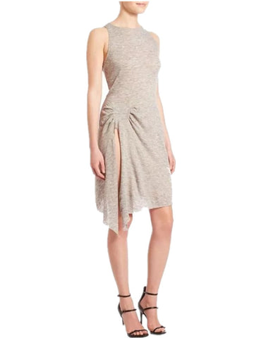Asymmetric Sleeveless Side Split Dress - FIREVOGUE