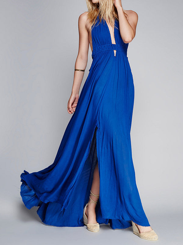 Open to It Halter Maxi Dress