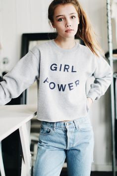 Girl Power Cropped Sweatshirt - FIREVOGUE
