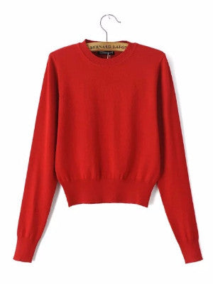 Age of Innocent Cropped Sweater - FIREVOGUE