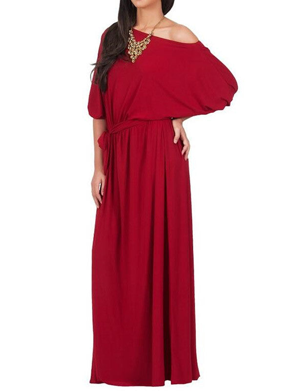 Safe Side One Shoulder Maxi Dress