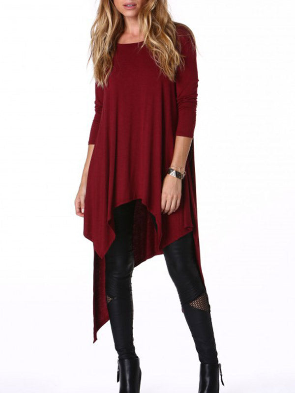 Irregular Cut Asymmetric Long Top