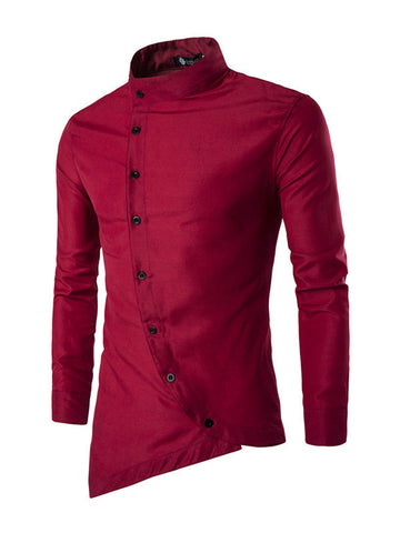Fashion Men Casual Slim Fit Shirt