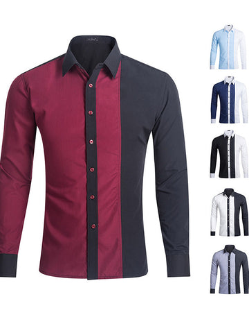 Men's Mixed Color Casual Shirts