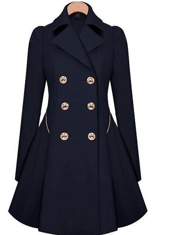 Keep Me Warm Double-Breasted Coat - FIREVOGUE