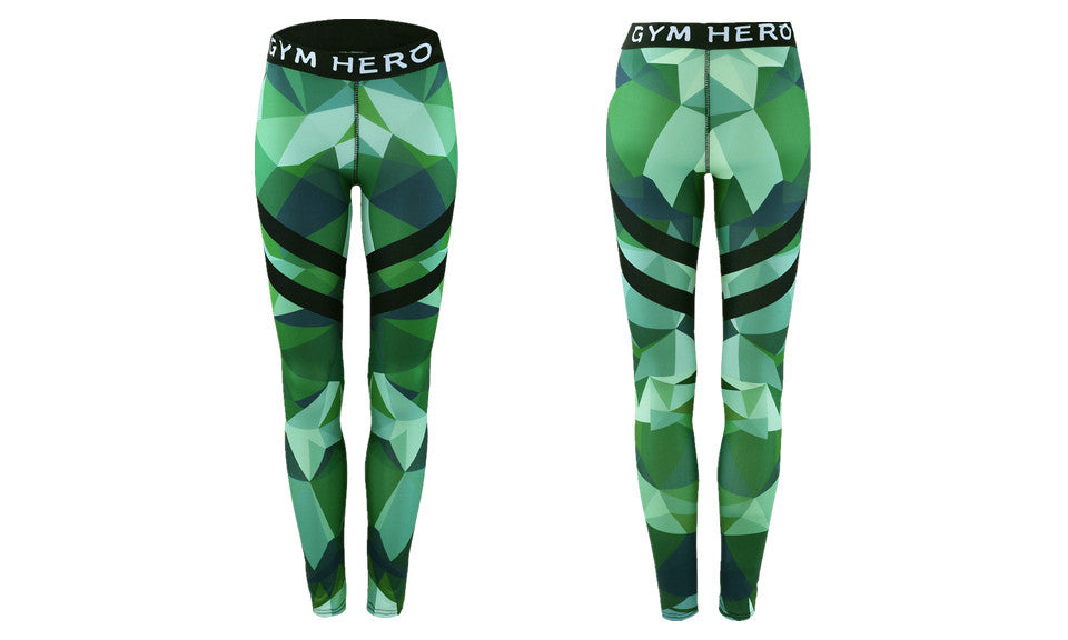 Camouflage Printed Stretchy Leggings - FIREVOGUE