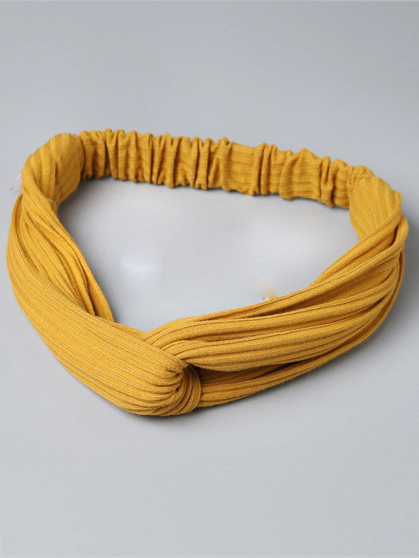 Solid Color Elastic Knitted Headband