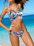 Get 'Em High Cross Bikini Sets