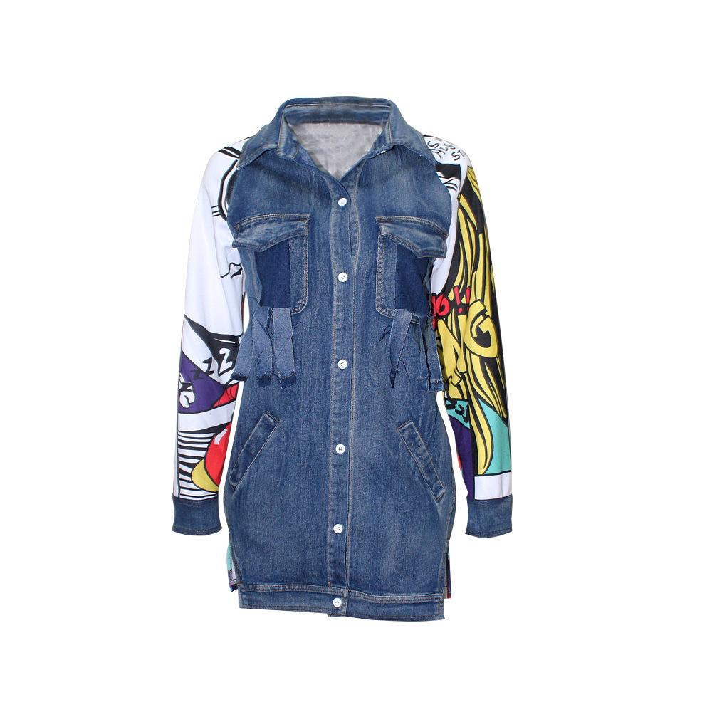 Fashion Women's Long-sleeved Denim Jacket Shirt