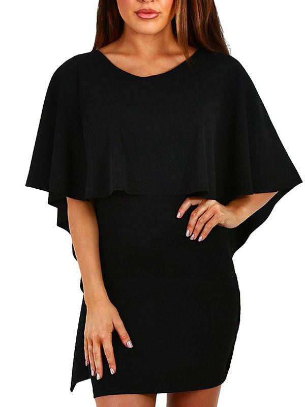 Women's Backless Cloak Mini Dress