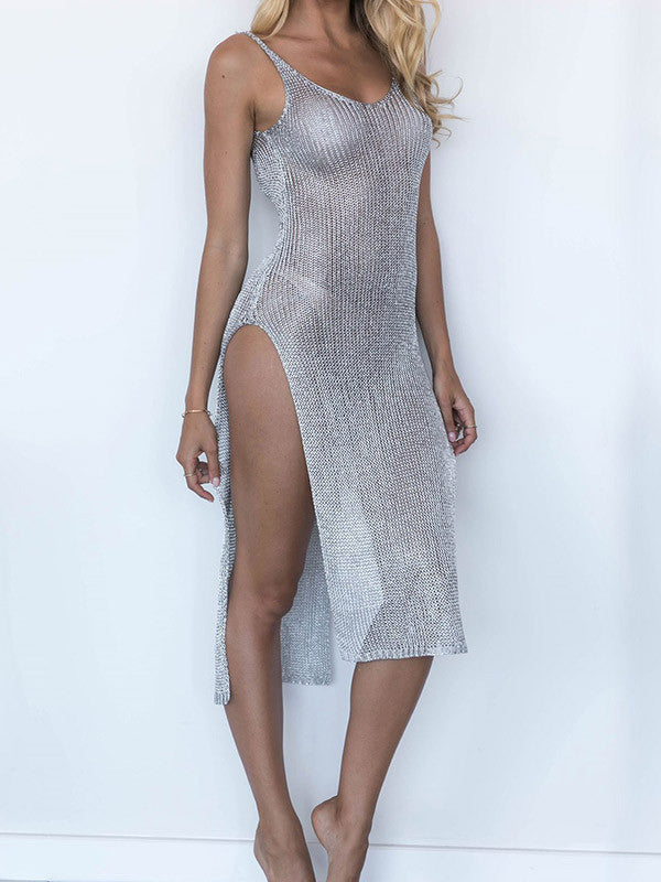 Knitted Mesh Bikini Cover-up - FIREVOGUE