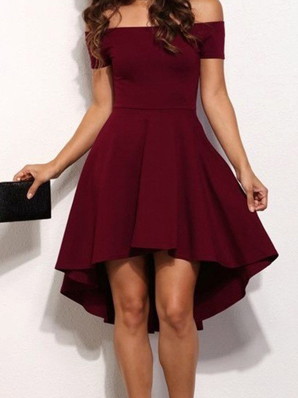 Elegant Lady Off-the-shoulder Dress