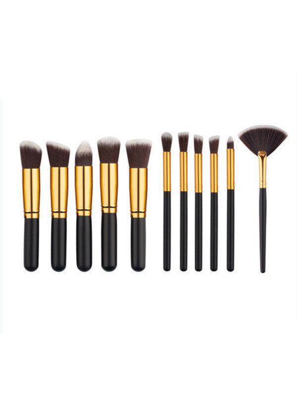 10Pcs Fashion Beauty Cosmetic Makeup Brushes Set Kit - WealFeel