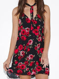 Stop and Smell the Roses Halter Dress - FIREVOGUE