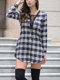 Strings Attached Plaid Dress