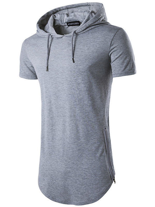 New York Short Sleeve Hooded Shirt