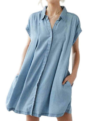 Sleeve Me Alone Denim Dress