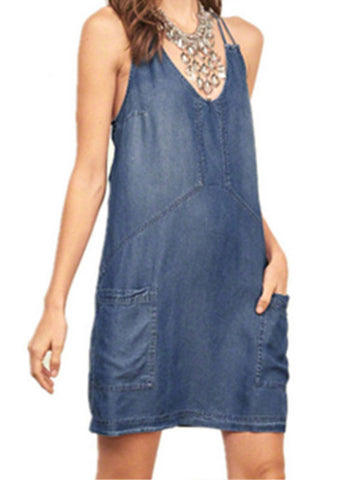 Center of Everything Denim Dress