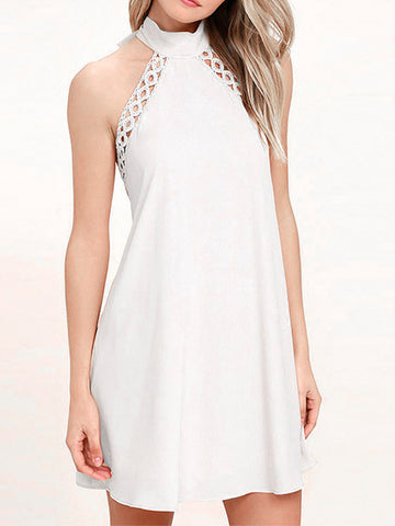 All You Need Lace-up Back A-line Dress