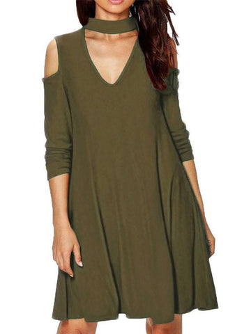 Women's Halter Neck Loose Casual Dress