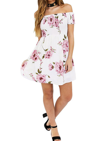 Sweet Love Off-the-Shoulder Floral Dress