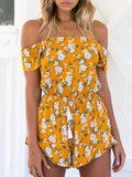 Always Young Off-the-shoulder Romper - FIREVOGUE