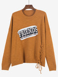 A Friend Indeed Lace-up Side Sweater