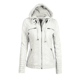 Zip Pockets Detachable Hood Jacket - FIREVOGUE