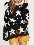 Seeing Stars Loose Sweater - FIREVOGUE