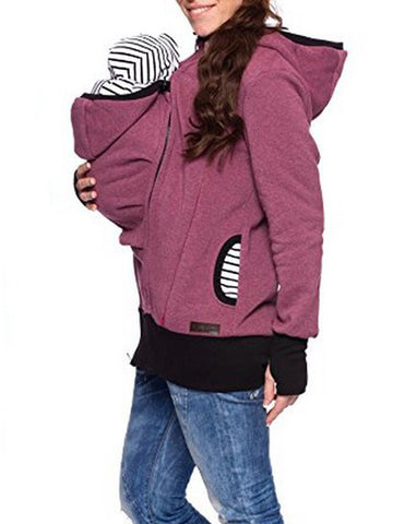 Baby Carrier Jacket Kangaroo Hooded Sweatshirt