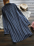 Expect the Unexpected Striped Long Shirt - FIREVOGUE