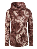 Side Zipper Tie-dyed Hooded Sweatshirt - FIREVOGUE