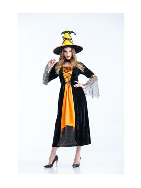 Women's Vintaged Halloween Witch Cosplay Costume