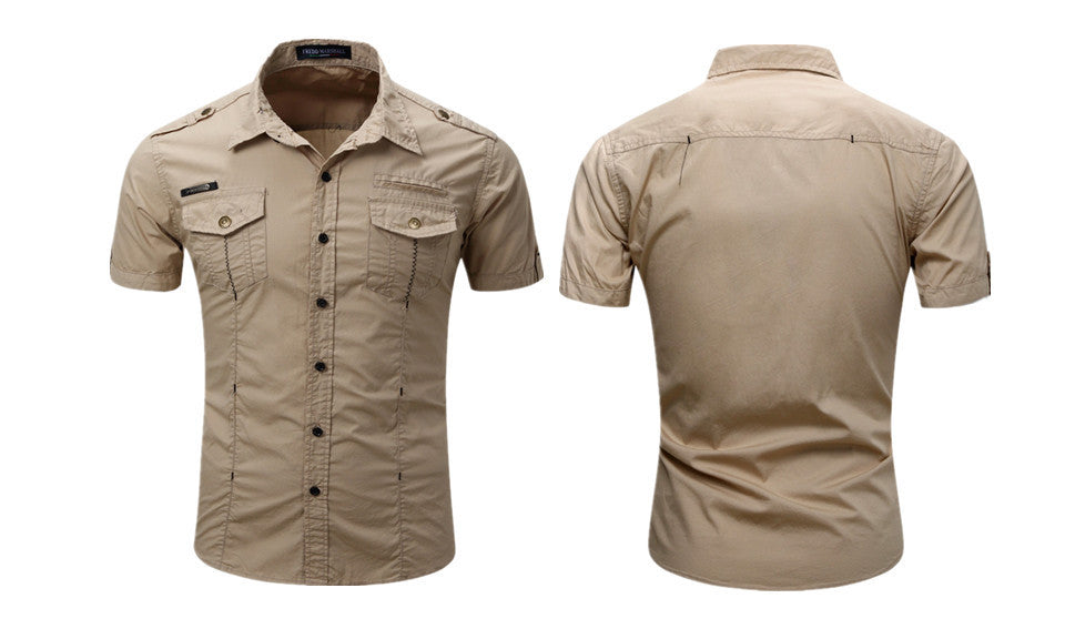 Men's Short-Sleeve Casual Work Shirt - WealFeel
