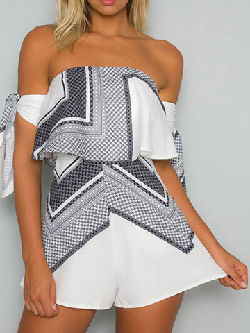 Love Story Off-the-shoulder Romper