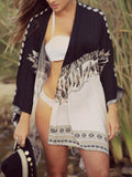 Women Bohemian V Neck Chiffon Beach Swimsuit Coverup - WealFeel