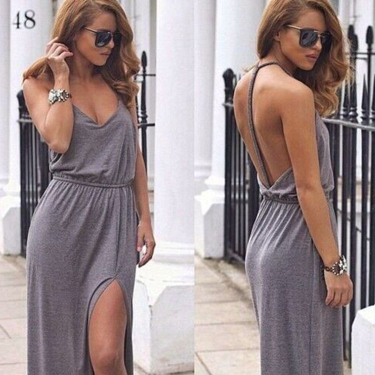 Back to Life Side Split Dress