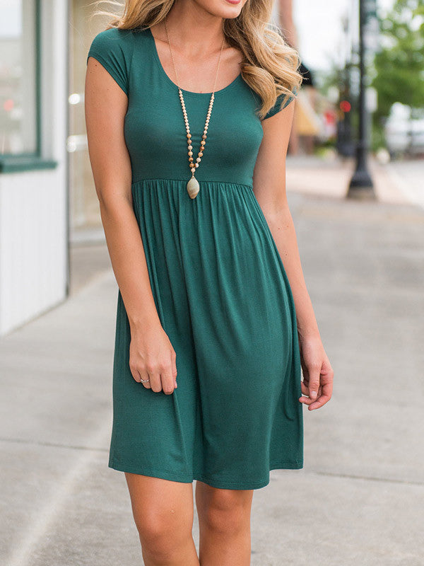 Casual Round Neck Short Sleeve Dress