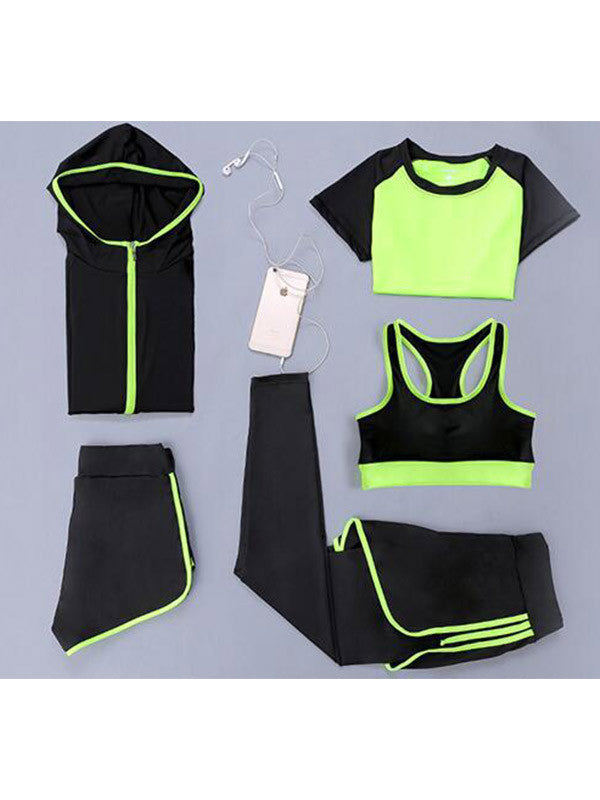 5-pcs-set Gym Outfit Dri-fit Yoga Suits
