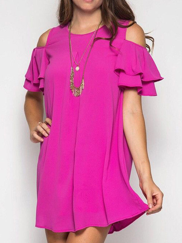 Ruffle Around the Edges Mini Dress