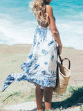 Field Day Floral Open Back Dress