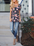 Summer Floral Cross Front Top