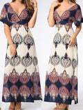 Go With the Low Printed Maxi Dress